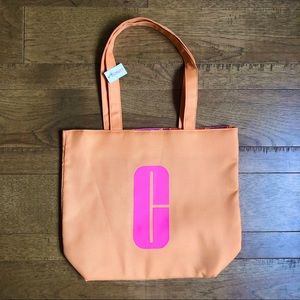 3/$15✨Clinique orange pink tote NWT
